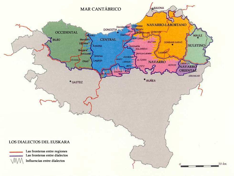 Mapa Pais Vasco Francia.Historia Del Pais Vasco Y Del Euskera Mapa Web